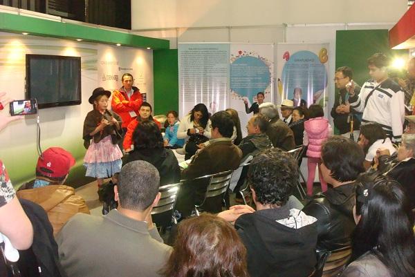 Programación del stand de la Secretaria de Educación de Boyacá en 'Boyacá en Corferias'