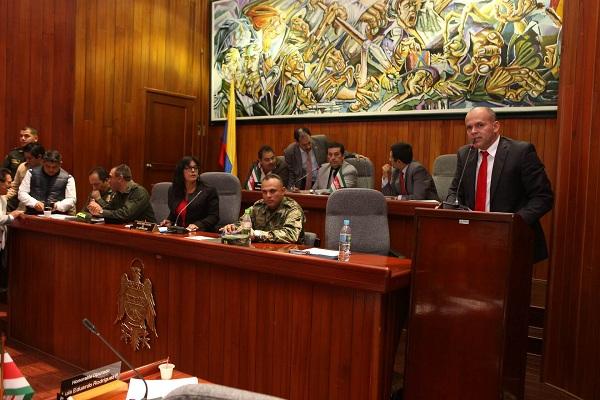 Secretario General presentó a la Asamblea los proyectos radicados al Ministerio del Interior