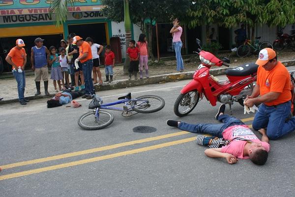 Motociclistas y peatones, mayores víctimas de accidentes por conductores de automotores