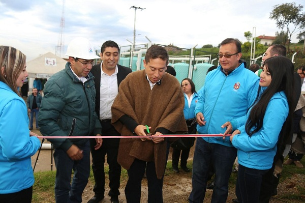 Inauguran planta de tratamiento de agua potable de Monguí