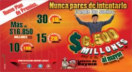 Lotería de Boyacá duplica su plan de premios