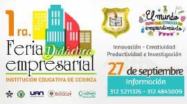 I.E de Cerinza realizará por primera vez  Feria Didáctica Empresarial