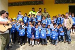Niños y niñas de El Cocuy recibieron la visita de la Gestora Social de Boyacá