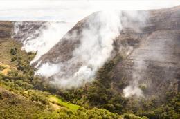Director de Gestión del Riesgo hace balance tras dos días de incendio en Villa de Leyva