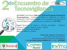 Segundo Encuentro Departamental de Tecnovigilancia en Boyacá