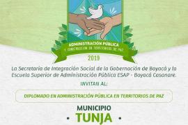 En Tunja, inicia diplomado: Administración Pública y Construcción en Territorios de Paz