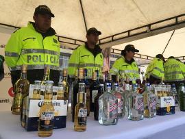 Cerca de 2.700 botellas de licor adulterado y de contrabando se incautaron en los últimos 4 meses