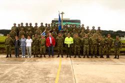 Secretario General realizó varias visitas a batallones y puestos militares del departamento