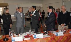 Ante el Gobernador y Presidente de la FND asumió el Director Ejecutivo