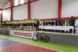 Gerente de Indeportes Boyacá acompañó el lanzamiento del equipo 'Arcabuco es Ciclismo'