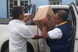 Gobernación brinda atención a familias por remoción en masa en vía nacional de Otanche