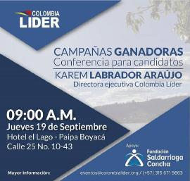'Escuela de Gobernantes´ de Colombia Líder llega este jueves a Paipa