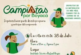 Jóvenes de Duitama podrán hacer parte de campistas por Boyacá