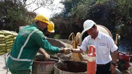 Secretaría de Infraestructura Pública inspecciona obras de empréstito