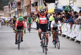 Miguel Ángel Rubiano se impuso en la segunda etapa de la Vuelta a Boyacá
