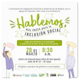 Este 28 de marzo, llega a Tunja la 'Escuela de Gobernantes' de Colombia Líder