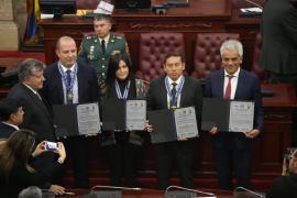 Gobernador Carlos Amaya fue condecorado por Boyacá Bio y su trabajo ambiental