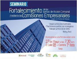 Primera sesión del Seminario sobre Fortalecimiento de Comisiones Empresariales