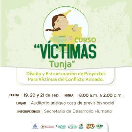 Este 19 de septiembre comienza en Tunja curso dirigido a víctimas del conflicto