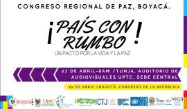 Organizaciones sociales y políticas invitadas al Congreso Regional de Paz