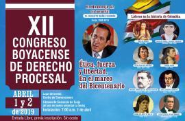 Boyacá, escenario del XII Congreso de Derecho Procesal