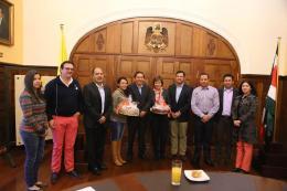 Gobernador se reunió con directivos de Crepes & Waffles