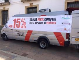 Oficina móvil recibirá pagos de impuesto de vehículo en la Plaza de Bolívar de Tunja