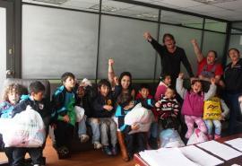 Con un toque infantil finalizó recolección de ayudas para el Ecuador