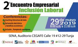 Se acerca el II Encuentro Empresarial de Inclusión Laboral en Tunja