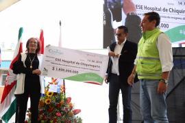 Gobierno Departamental entrega recursos para Hospital Regional de Chiquinquirá