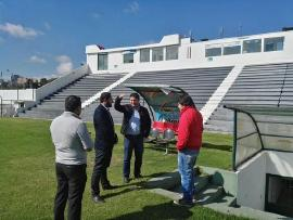Indeportes Boyacá adelantó visita técnica a tribuna occidental del estadio La Independencia