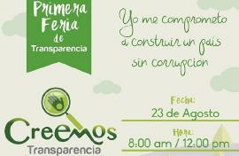 Gobernación realizará la Primera Feria de Transparencia