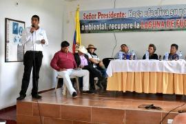 Gobernación comprometida con la recuperación de la Laguna de Fúquene