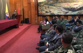 General del Ejército Nacional, Martínez, asegura que seguirán trabajando por Boyacá