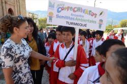 Gestora social comprometida con Corpochivatos en Encuentro de Semillitas Ambientales