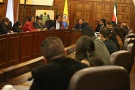 Gobernador Amaya se comprometió con trabajadores de Esimed a buscar salida de la crisis