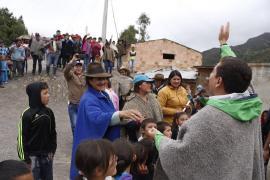 La primera visita de un Gobernador a la vereda El Moral en Chita
