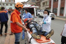 Gobernador Carlos Amaya acompañó simulacro de evacuación por inundación en Paz de Río