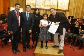 Gobernador Carlos Amaya exalta talento de la Banda Sinfónica Infantil de Nobsa