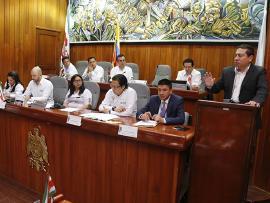 Gobernador Carlos Amaya acompañó homenaje a víctimas de Boyacá