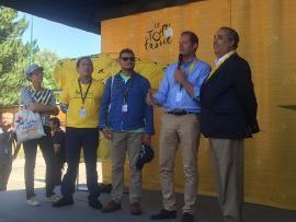 Gobernador acompañó a Nairo y promocionó Boyacá en el Tour de Francia