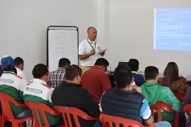 Funcionarios de Indeportes Boyacá reciben curso certificado para trabajo en alturas
