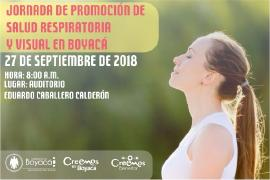 Jornada de promoción de Salud Respiratoria y Visual en Boyacá