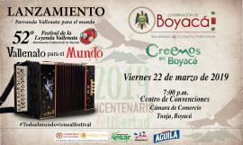 En Boyacá se lanzará la versión N° 52 del Festival Vallenato