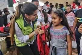 A La Victoria llegó la campaña 'Útiles para Crear Historia Bicentenaria'