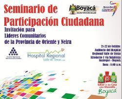 Próximo 21 de Octubre Inicia formación que empoderará a la Comunidad en Valle de Tenza