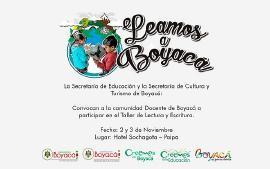 Educación y Cultura y Turismo convocan a docentes a participar en taller de lectura y escritura