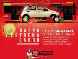 Vuelve el Raspa y Gana de la Lotería de Boyacá