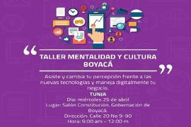 Este miércoles 25 de abril, se llevara a cabo Taller en Mentalidad y Cultura