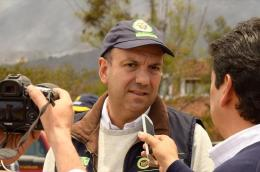 Min ambiente acompaña la coordinación de las labores de extinción de fuego en Iguaque